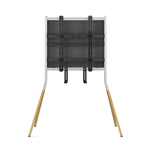 SUPPORT FALCON TV STAND LIGTH FINITION CHENE -ARGENTE 32-70/81-178CM